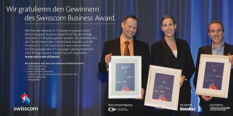 RohrMax gewinnt 2010 – Mobilstes Unternehmen der Schweiz