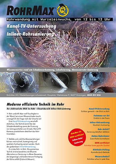 Tipps und Informationen im Ratgeber Kanal-TV-Untersuchung von RohrMax