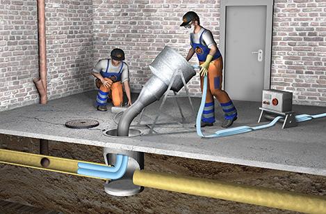 Abwasserrohrsanierung durch RohMax
